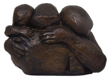 Theresa Gilder Bronze Resin Sculpture Family Embrace Limited Edition